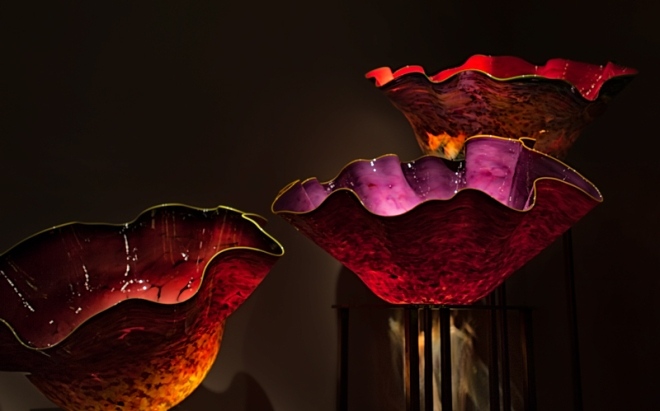 A section of Dale Chihuly's Macchia Forest